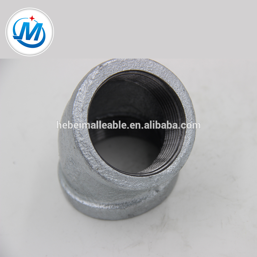 """OEM/ODM Supplier Aluminum Weld Fittings - hot dipped galvanized pipe fittings 1/2 """"45 degree elbow with stock – Jinmai Casting"""