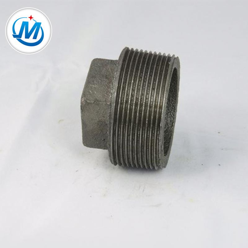 Producing Safely 2.4mpa Test Pressure NPT Thread Malleable Iron Pipe Fittings Pipe Plug Supplier