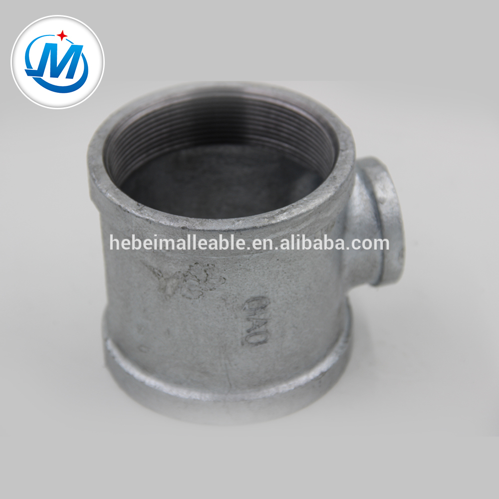Wholesale Flange Coupling Gas Pipe Fittings - NPT standard cast iron gas pipe fitting reducing tee – Jinmai Casting detail pictures