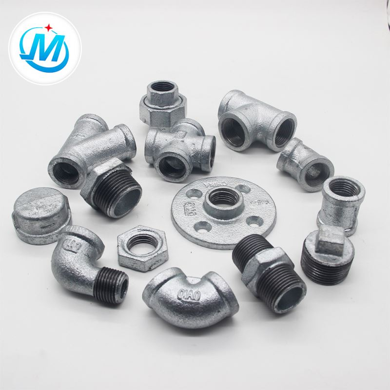 galvanized malleable iron pipe fitting BS standard