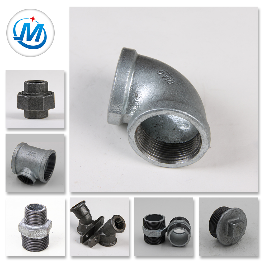 OEM/ODM Manufacturer Ppr Pipes And Fittings - Promotional Plain Hot Dipped Galvanized Cast Malleable Iron Pipe Fitting Joint – Jinmai Casting