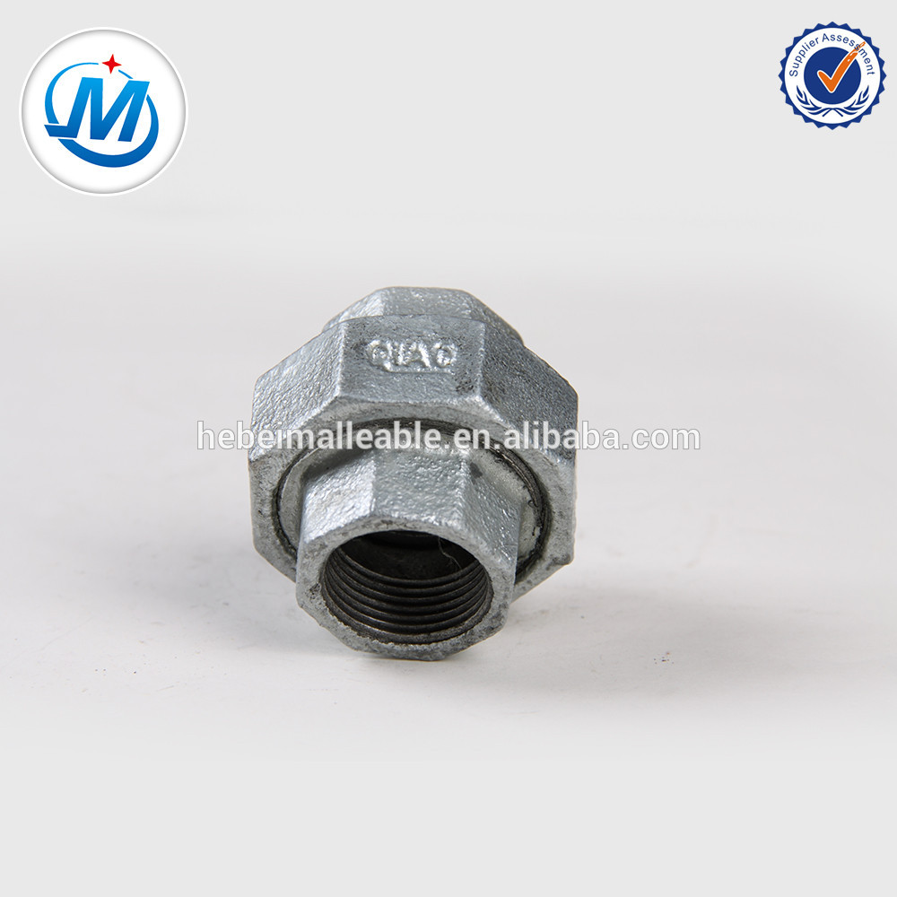 Manufactur standard Schedule 80 Steel Pipe Fittings - Electrical Galvanized Malleable Iron Flat Seat Union – Jinmai Casting