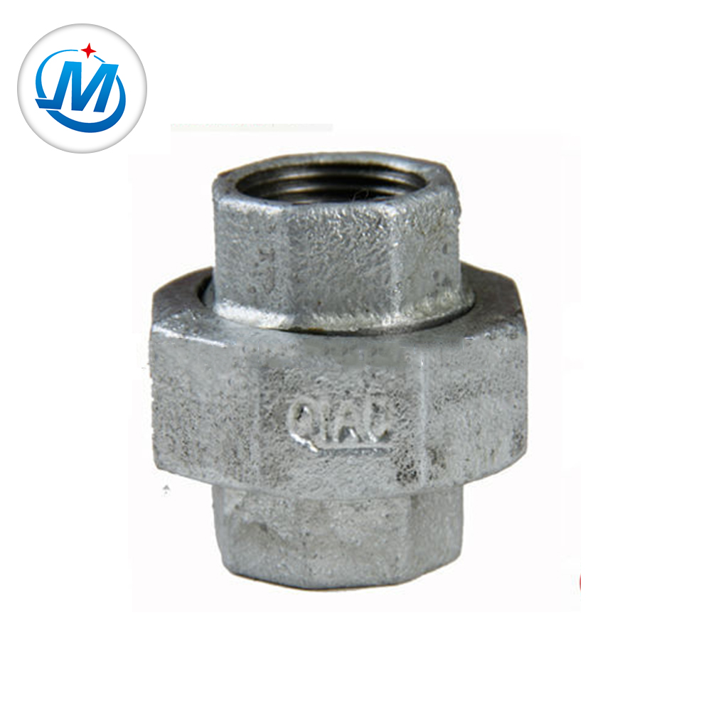"malleable iron pipe fitting gi bv bs banded 3/4"" conical female union"