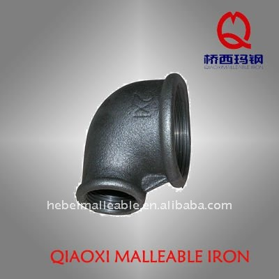 black malleable iron pipe fittings reducer elbow
