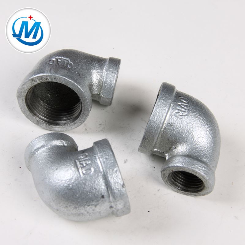 Din Standard Malleable Iron Pipe Fitting Reducing 90 Degree Reducer Elbow