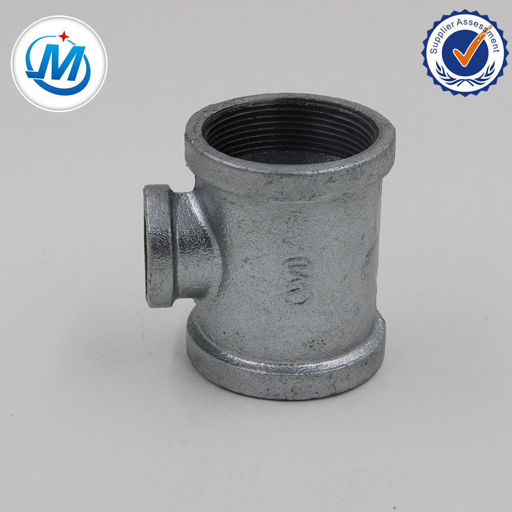 Factory wholesale Threaded Steel Pipe Fittings - Malleable Iron Pipe Fitting Reducing Tee – Jinmai Casting