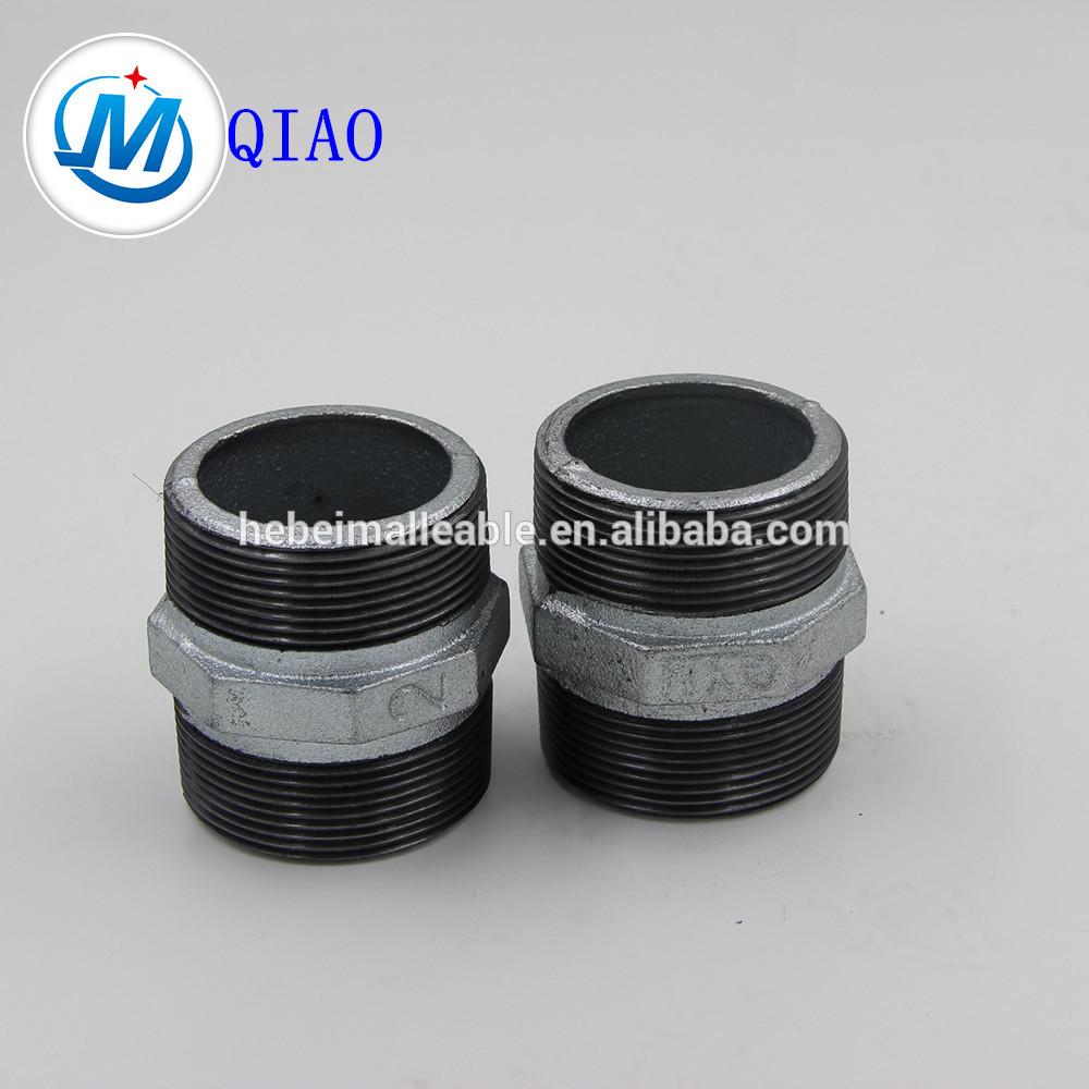 plumbing material BS standard galvanized MI hex nipple 280