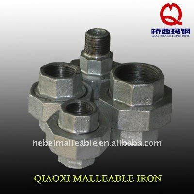 Manufacturer of Cheap Pipe Fittings Chart -<br />  hebei factory union galvanized malleable cast iron pipe fitting names and parts - Jinmai Casting
