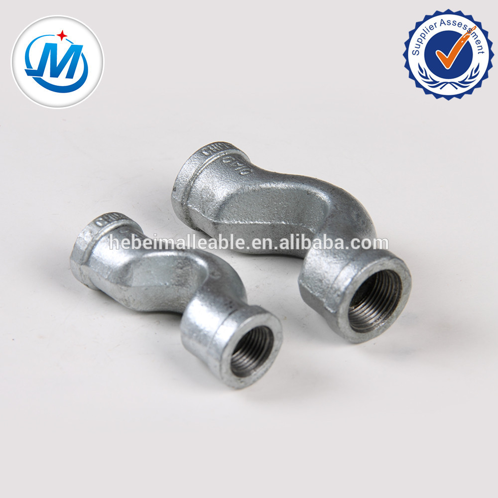Professional Design Female Hydraulic Pipe Fittings - plumbing parts malleable iron pipe fittings crossover,banded – Jinmai Casting detail pictures