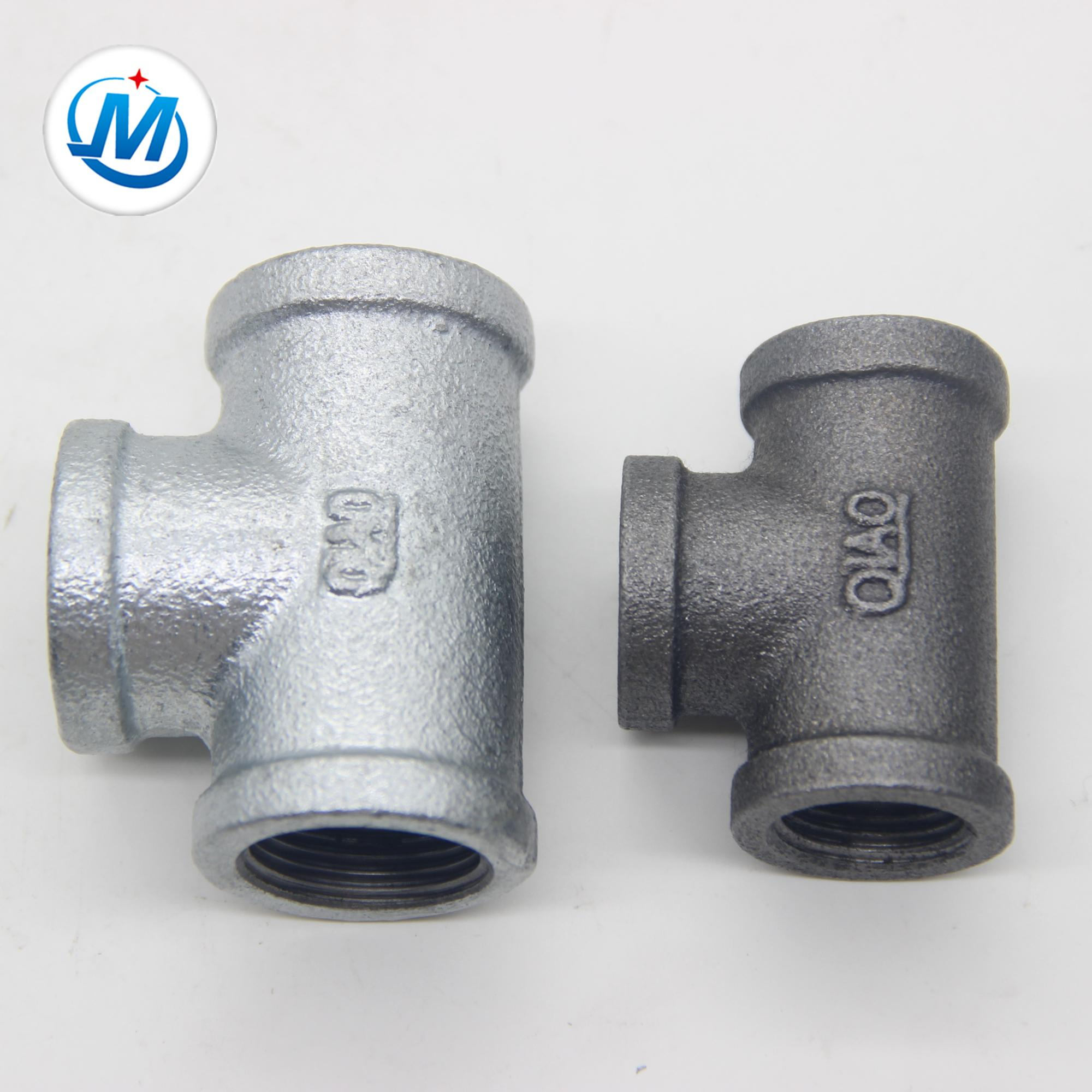 new popular galvanized malleable iron pipe fitting tee
