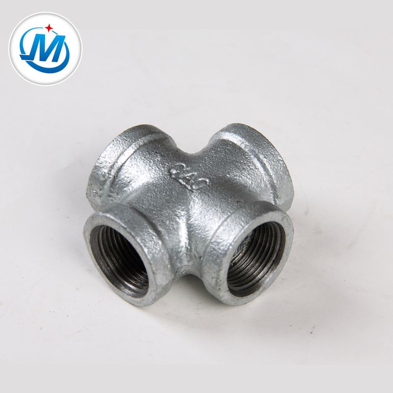 Professional Enterprise For Oil Connect As Media Malleable Iron Pipe Fitting 4-Way Cross