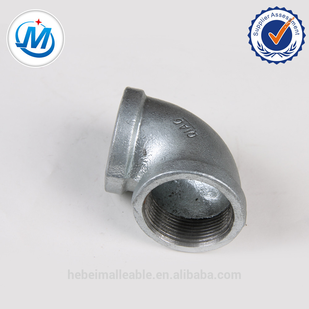 Low price for Hose Barb Brass Fittings - galvanized malleable iron pipe fittings-m.i. elbow – Jinmai Casting