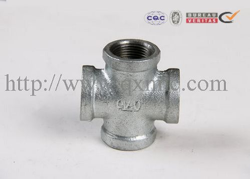 Factory Supply Stainless Steel Pipe Fittings Food Grade - black / galvanized malleable cast iron pipe fittings cross – Jinmai Casting detail pictures