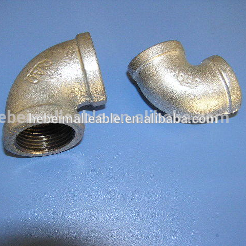 China Cheap price 45 Degree Elbow For Water Pipeline - malleable iron pipe fitting hot-dipped galvanized banded elbow – Jinmai Casting