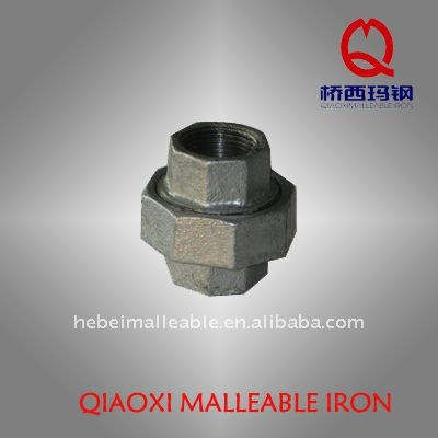 galvanized malleable iron pipe fitting casting universal union