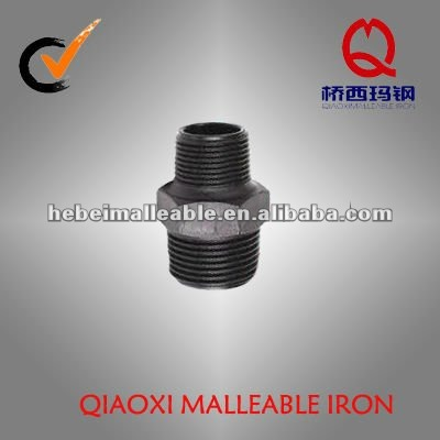 BS male threaded galvanized reducing malleable iron pipe fitting hex nipple
