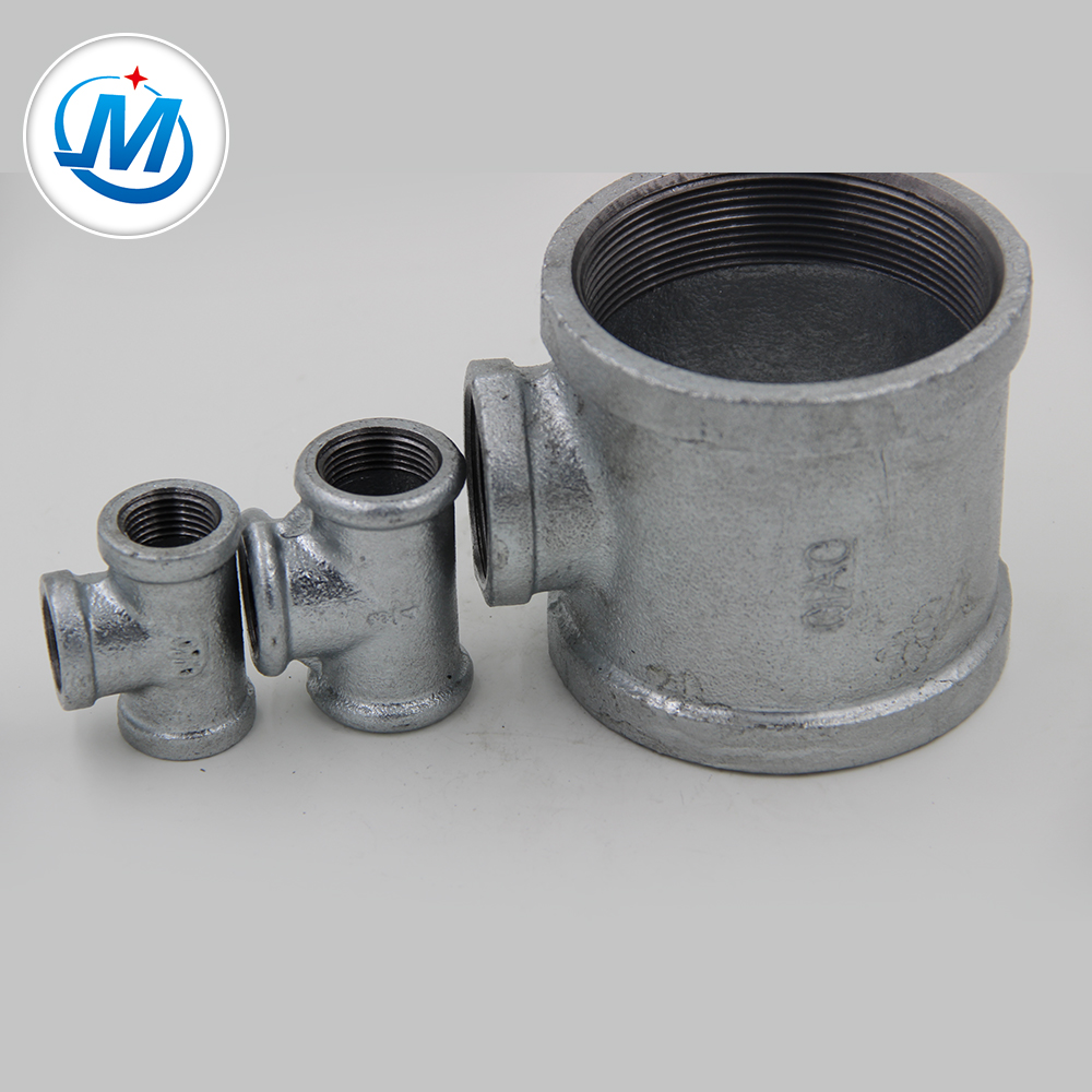 china supplier casitng galvanized banded cwd reducing tee