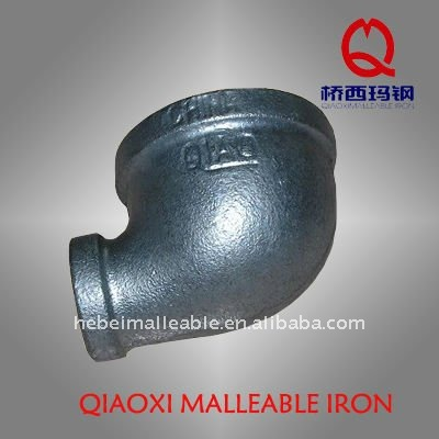 gi reducing malleable iron pipe fitting cast 90 degree banded elbow