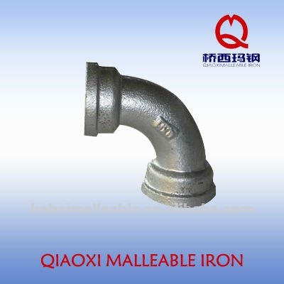 150# hot dipped galvanized malleable iron pipe fittings female to female 90 degree equal banded bend