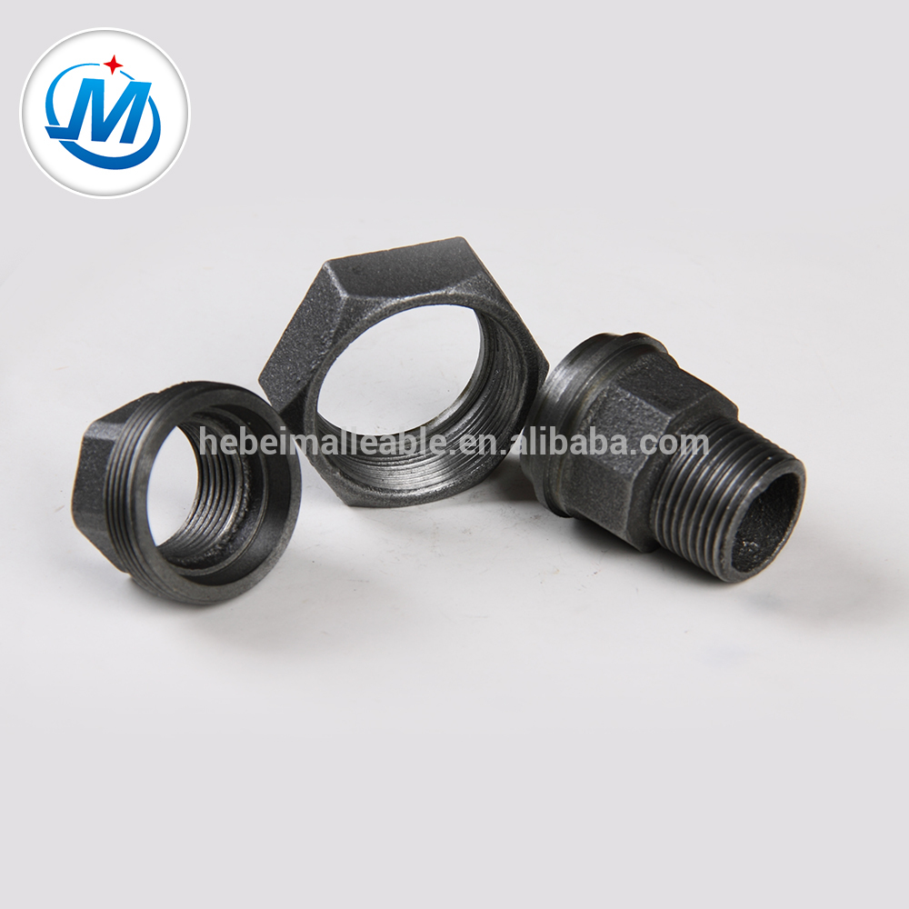 China Supplier Npt Threaded Galvanized Pipe Fittings - Malleable Iron Pipe Fitting union male and female conical joint – Jinmai Casting