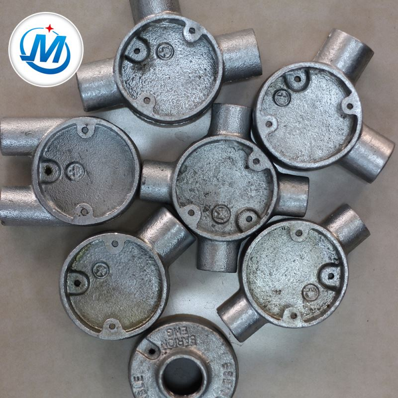 Quality Controlling Strictly For Water Connect Two Way China Manufacturer Malleable Iron Junction Box