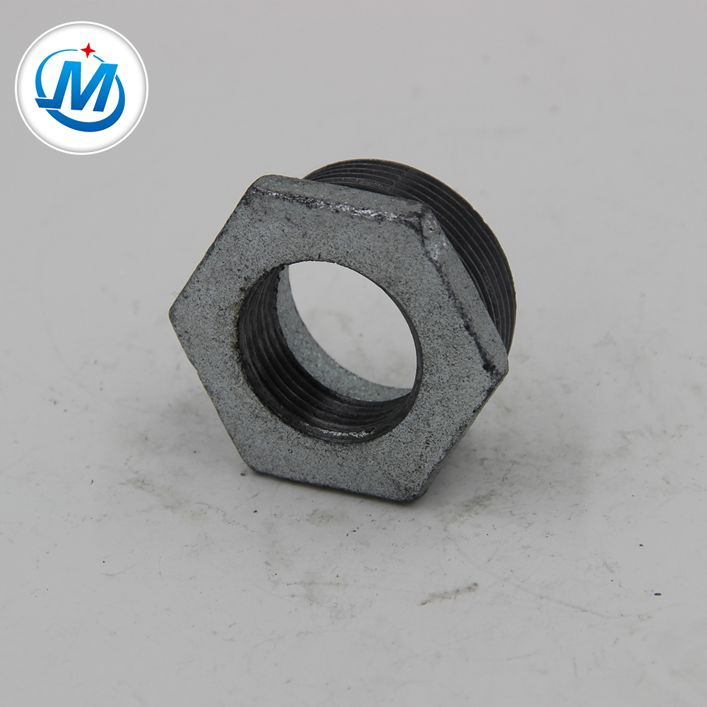 Factory selling Stainless Steel Screwed Pipe Fittings Class150 - hot galvanized malleable iron pipe and fitting bv banded bushing – Jinmai Casting