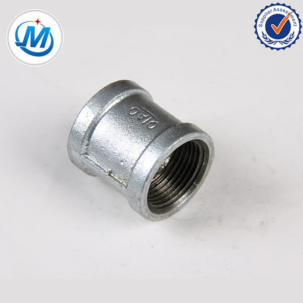 Fabriko Alta Kvalito Threaded Rolantaro Malleable Iron Pipe Fittings