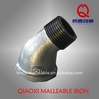 GI pipe fitting 45 degree banded reducing street elbow