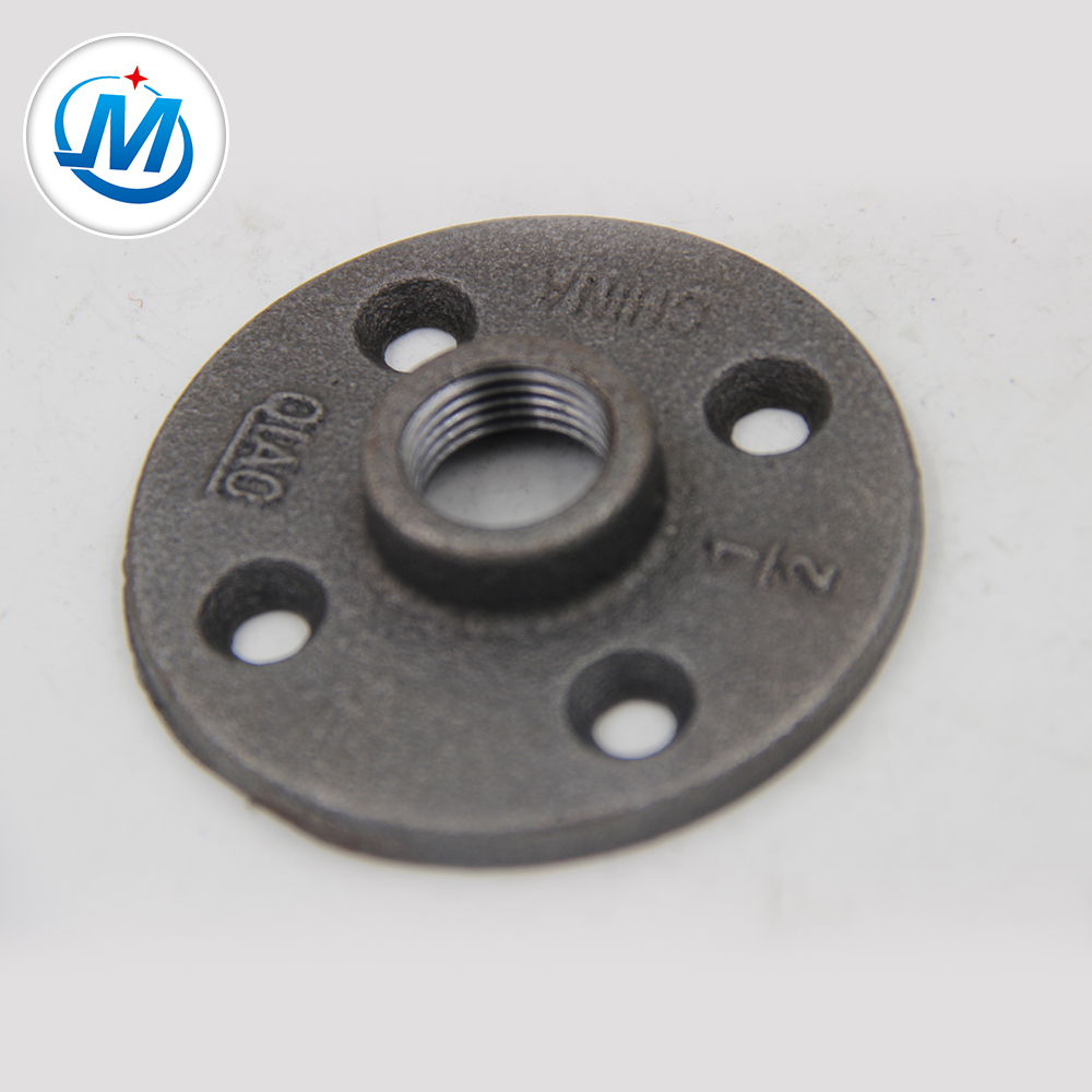 black malleable iron pipe fitting floor flange