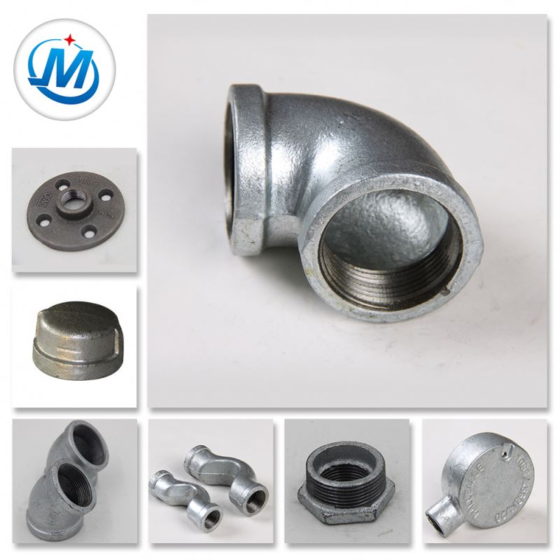 Banded Galvanized Cast Malleable Iron Oil Gas Pipe Fitting