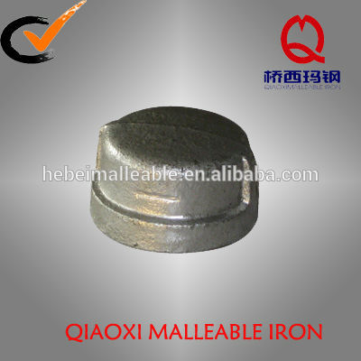 Special Price for Epoxy Coated Cast Iron Pipe - hot dipped galvanized DIN threading pipe fittings cap – Jinmai Casting
