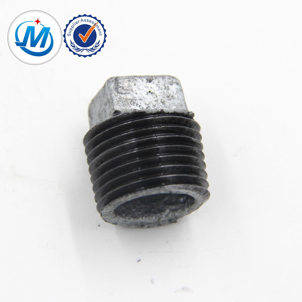 Good quality 90 Degree Female Thread Elbow - malleable iron pipe fitting plug good quality,pipe fittings – Jinmai Casting