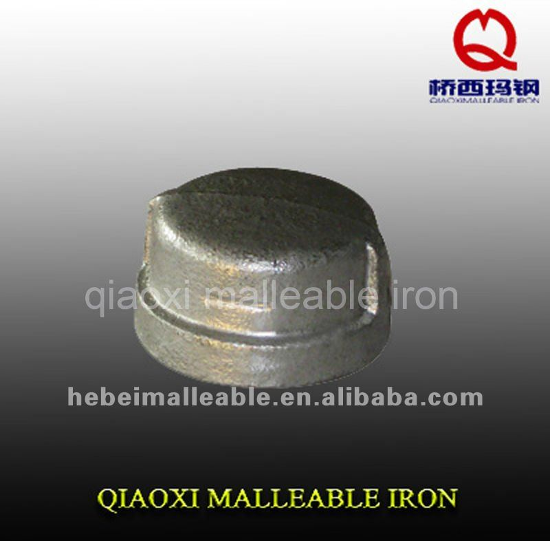Wholesale Price Galvanized And Black Color Nipple - gi malleable cast iron pipe fitting banded cap – Jinmai Casting
