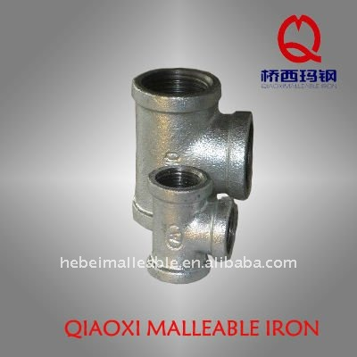 gi malleable iron pipe fitting cast test screw joint tee
