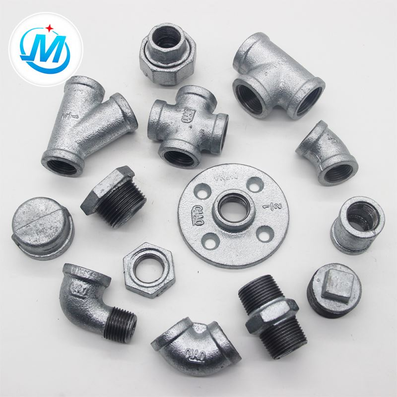 Small MOQ Functional din ansi din standard malleable galvanized iron pipe fittings