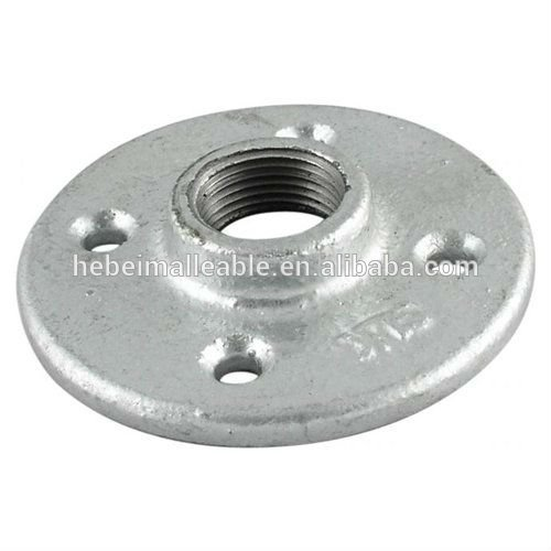 hebei 4 bolt holes BS standard 321 galvanized malleable cast iron flange pipe fitting