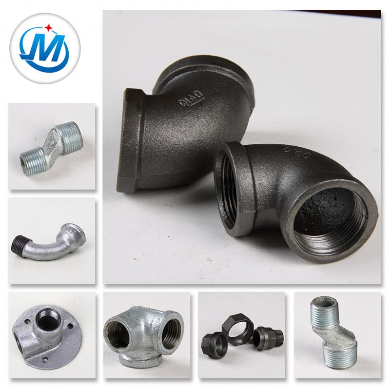 Equal Shape And Round Head Code Water Pipeline Galvanized Malleable Cast Iron Pipe Fitting