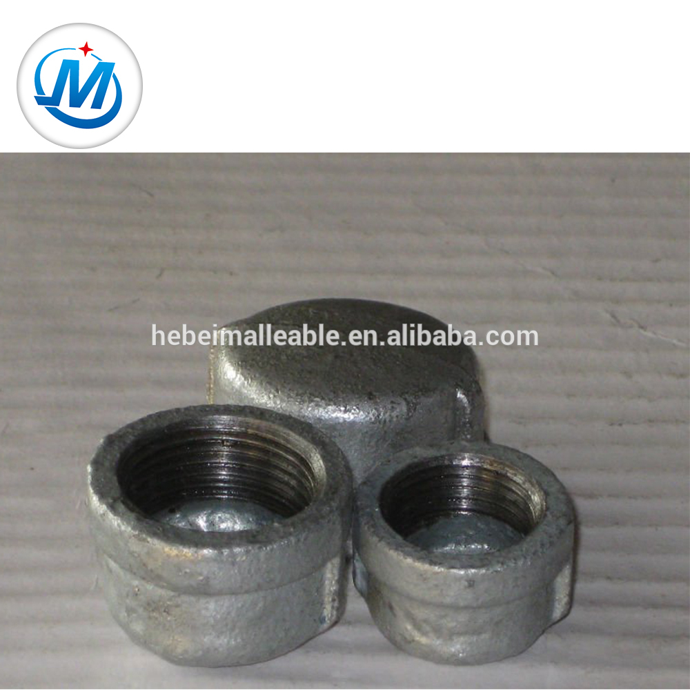 Factory Free sample 90 Degree Threaded Elbow - hot dipped galvanized BS threading pipe fittings cap – Jinmai Casting