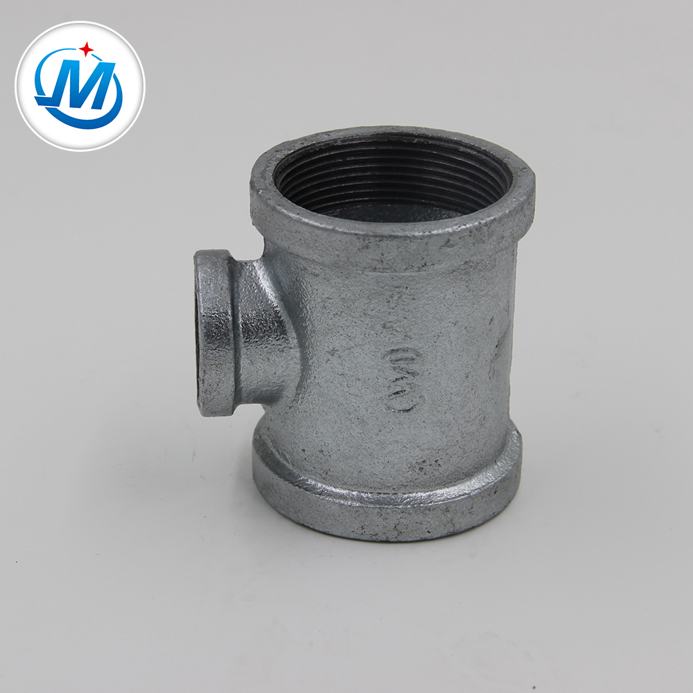 """Factory For Pipe Branch Tee Fitting - 3/8""""1/2"""" DIN standard malleable iron pipe fitting Reducing Tee – Jinmai Casting"""