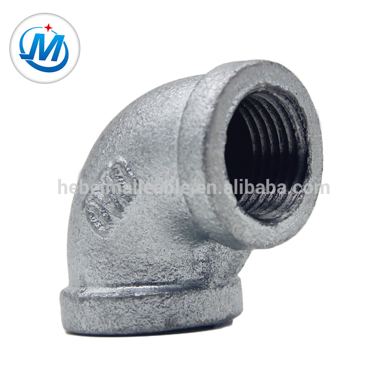 "1-1/4""DIN malleable iron pipe fitting 90 degree banded equal elbow"
