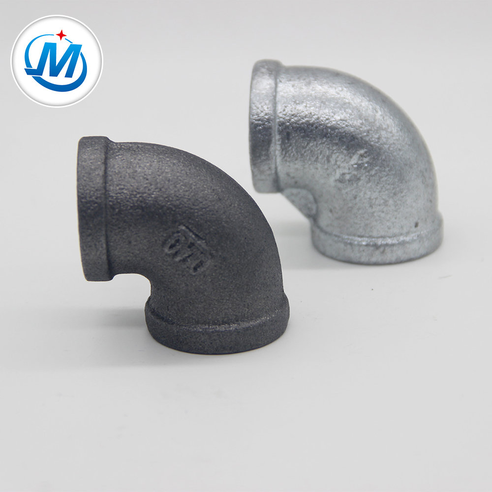 QIAO brand FIg no.90 elbow hot dipped galvanized Malleable Iron Pipe Fittings