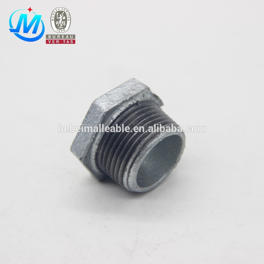 NPT malleable iron pipe fittings gi bushing