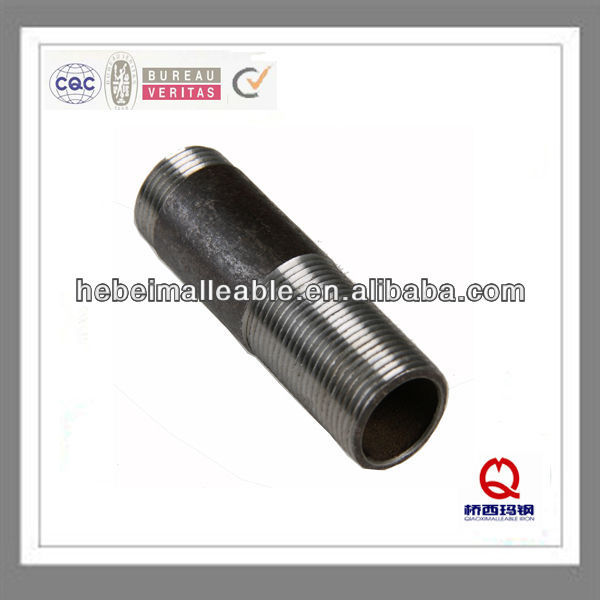 black threaded metric pipe nipple
