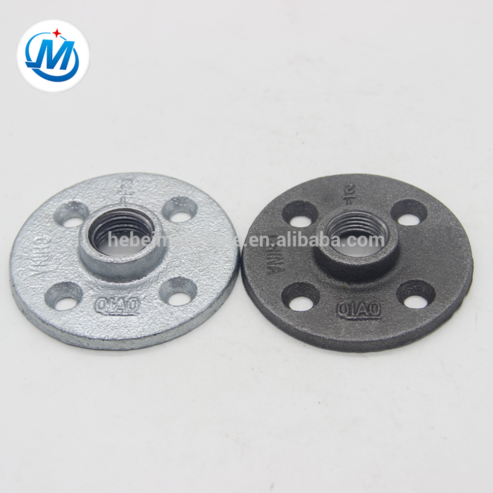 Hebei BS standard malleable cast iron pipe fittings floor flange