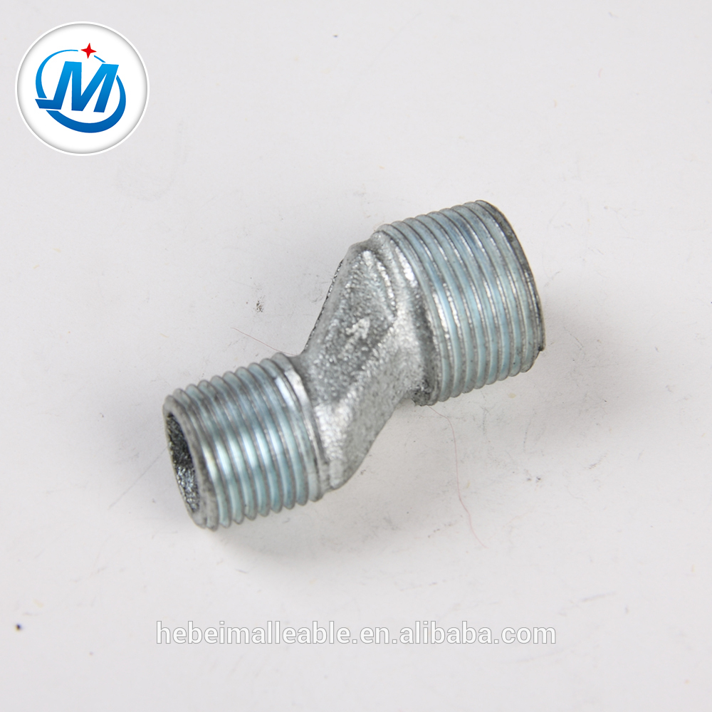 150# Hot Dipped GI Malleable Iron Pipe Fitting Eccentric Reducing Male Nipple