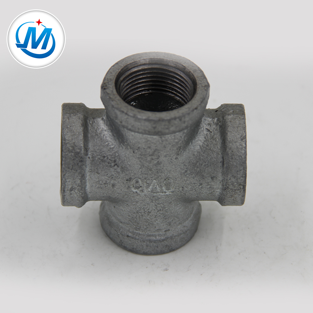 Cheap price Reducing Sockets - Wholesale Galvanized Malleable Iron Pipe Fitting Fig No.180 Cast Iron Cross – Jinmai Casting