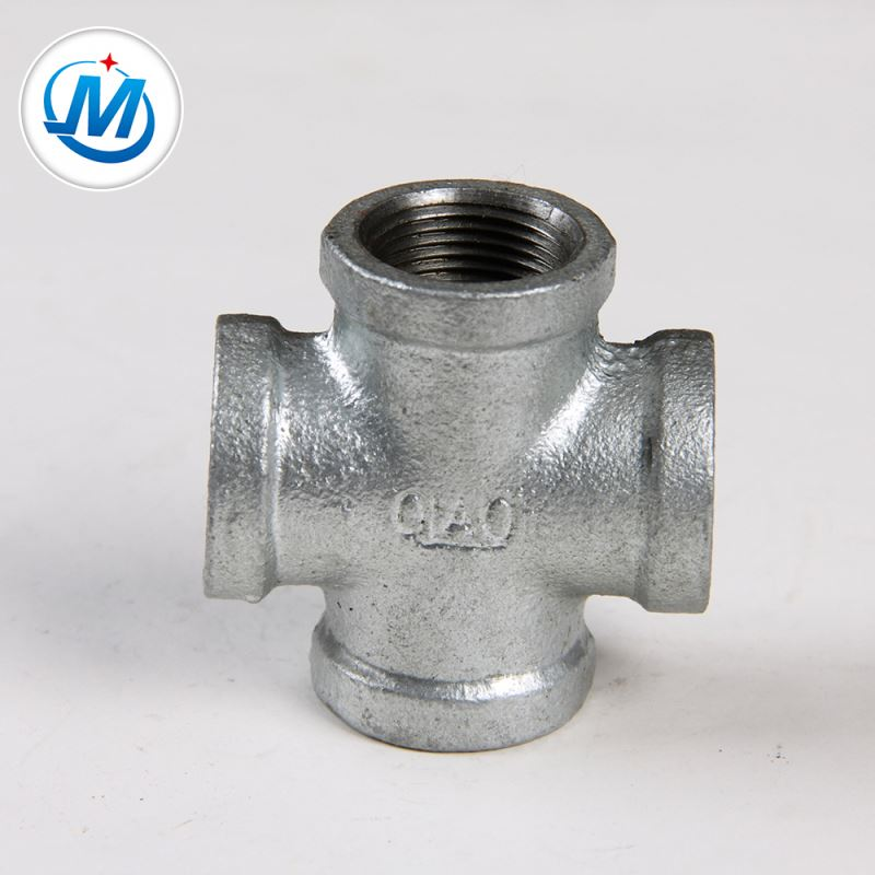 18 Years Factory Galvanized Iron Pipe Fitting Elbow - Sell to American For Oil Connect As Media Malleable Iron Pipe Fittings of Cross – Jinmai Casting detail pictures