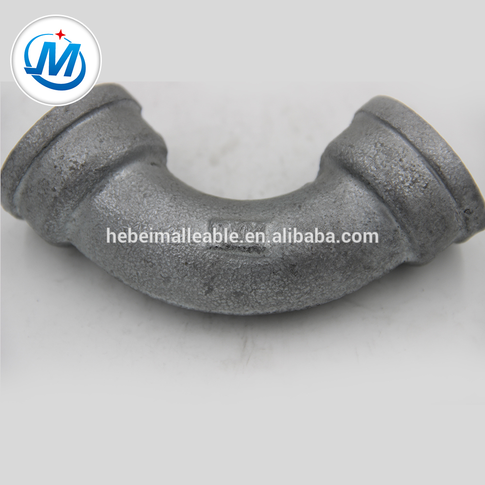 Galvanized malleable iron pipe fitting 90 degree female bend