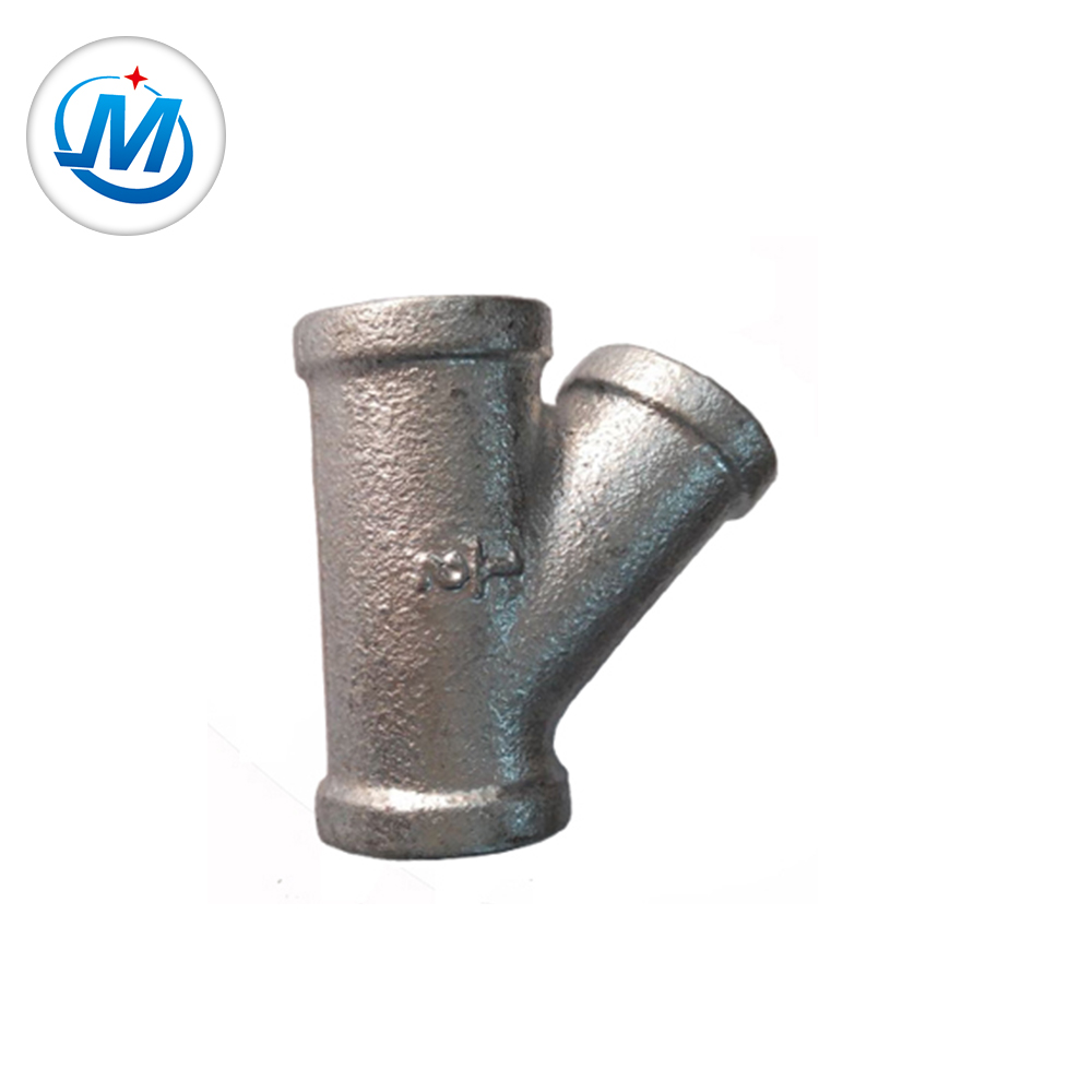 8 Year Exporter Stainless Steel Welded Pipe - Hot dipped galvanized Y Tee malleable iron pipe fitting – Jinmai Casting