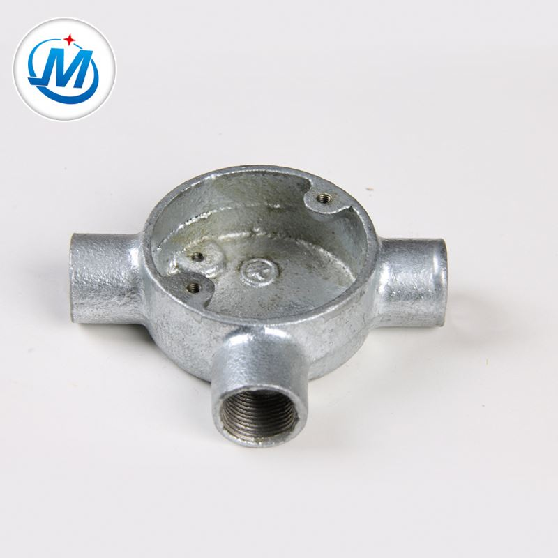 BV Certification For Gas Connect Circular Malleable Iron Junction Box